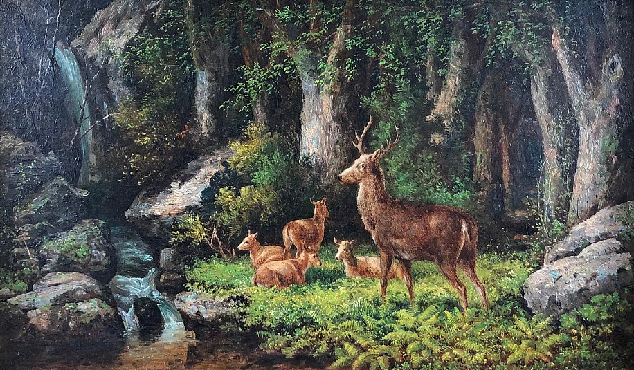 John White Allen Scott, The Woodlands Oil on Canvas